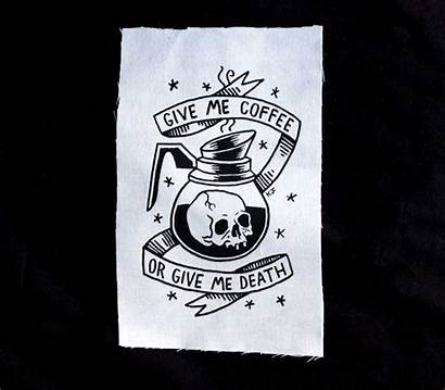 Coffee Flash Tattoo Traditional Give Death