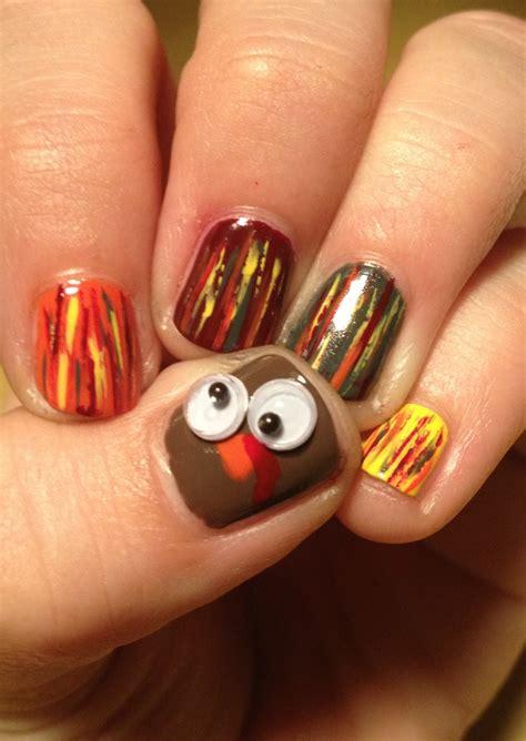 fun thanksgiving nail designs