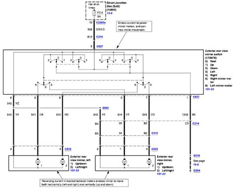 2000 Ford Explorer Side Mirror Wiring Diagram by Is There A Relay Switch For The Power Mirrors On A 2005