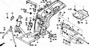 Honda Scooter 1985 Oem Parts Diagram For Frame