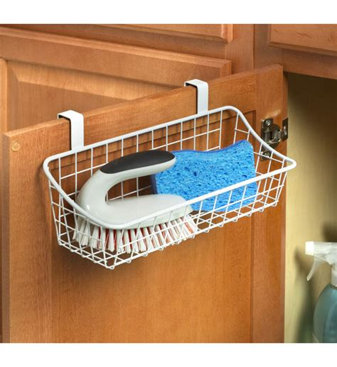 over the cabinet basket white over the cabinet wire basket in cabinet door organizers