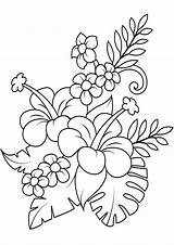 Flower Coloring Flowers Tulamama sketch template