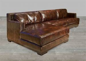 Dark brown leather sectional sofa with chaise lounge for Sectional sofa bed with chaise lounge
