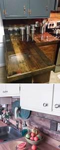 Plan De Travail En Palette : 23 utilisations incroyables des vieilles palettes en bois pour la cuisine ~ Melissatoandfro.com Idées de Décoration