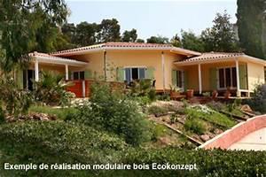Maison Modulaire Bois : maison modulaire bois hqe en autoconstuction ecokonzept ~ Melissatoandfro.com Idées de Décoration