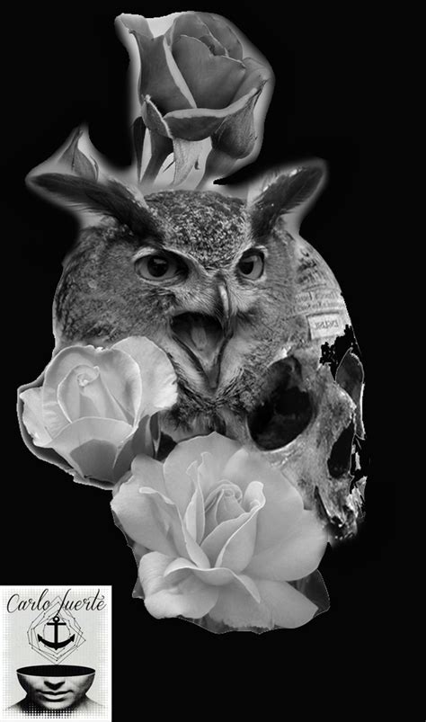 realistic tattoo #digital work #tattoo idea #owl tattoo #