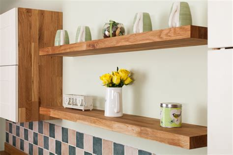 How To Install Floating Shelves In Oak Kitchens