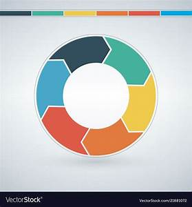 Vector Infographic Circle  Template For Graph  Cycling