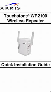 Arris Wr2100 User Manual Wr2100  Quick Start Guide
