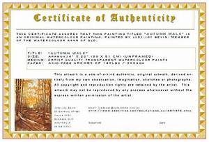 certificates of authenticity artsy shark With artist certificate of authenticity template