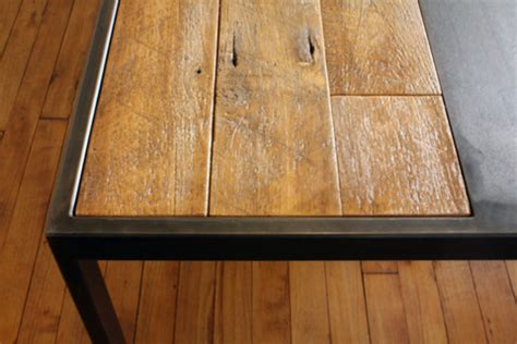 detail of reclaimed wood table modern dining tables