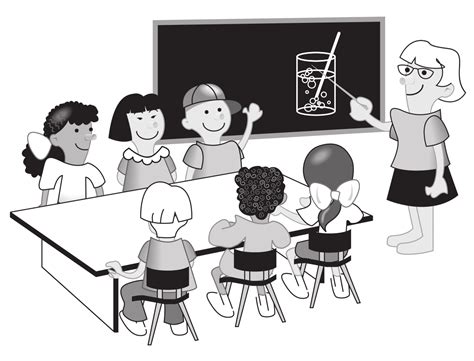 14692 student clipart black and white kindergarten class clipart 43