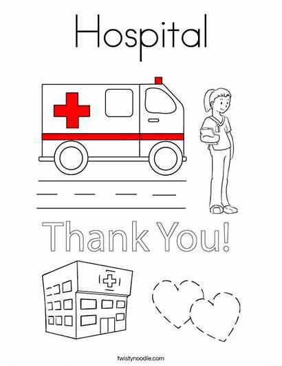 Coloring Hospital Built California Usa Twistynoodle
