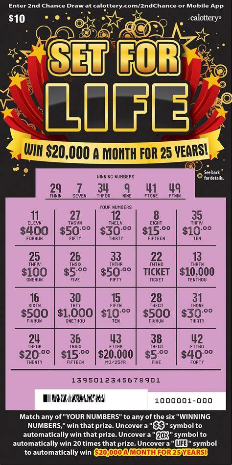 set  life  california state lottery