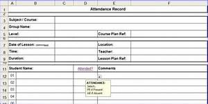 Training Attendance Register Template Excel Attendance Sheet