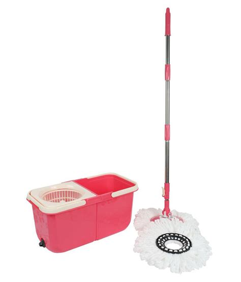 lock n lock mop dreamline twin tub magic double bucket mop handle lock for height adjustment pink white buy