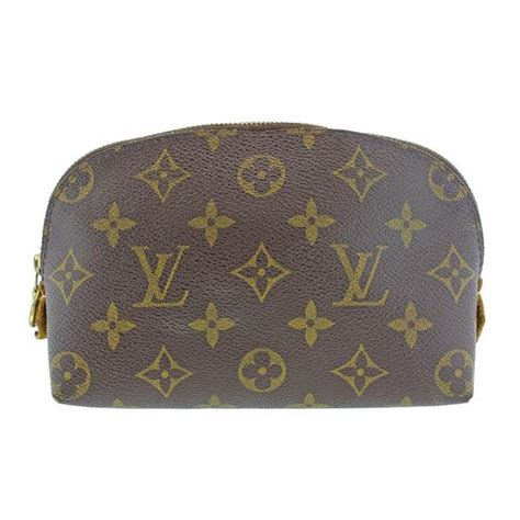 louis vuitton brown pochette monogram zippy makeup pouch