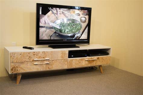 mid century modern tv stand finewoodworking