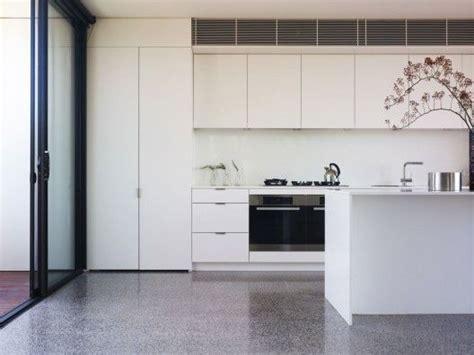 kitchen polished concrete floor kyneton residence intermode