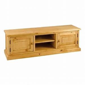 Meuble Blanc Pas Cher : meuble tv pin massif blanc pas cher ~ Dailycaller-alerts.com Idées de Décoration