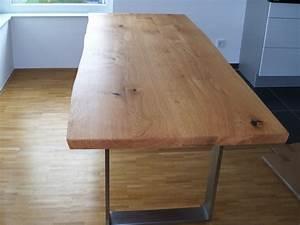 Massivholzplatte 200 X 80 : kufen esstisch talca mit gestell aus pulverbeschichtetem stahl ~ Bigdaddyawards.com Haus und Dekorationen