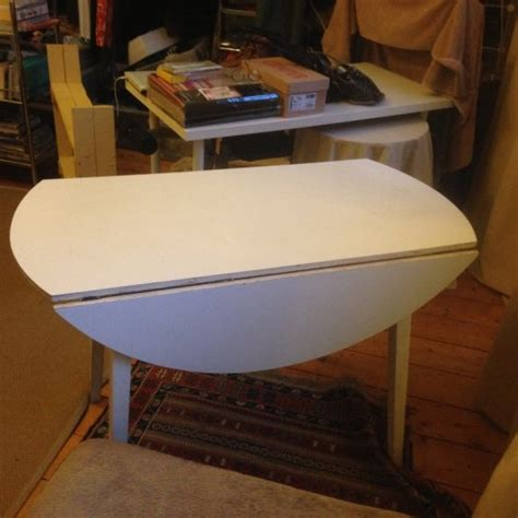 vintage white melamine folding kitchen table for sale in