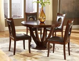 5 pc homelegance vanbure round dining set for Home elegance furniture warehouse