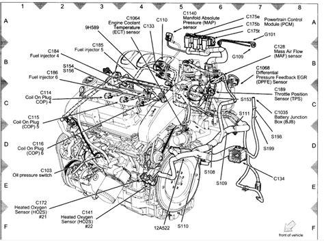 ford v6 engine diagram free wiring diagram