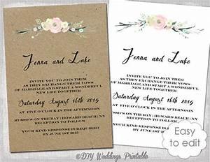 printable rustic wedding invitation template quotrustic With digital wedding invitation templates free download