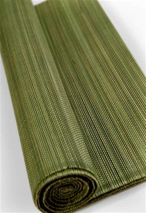 olive green matchstick bamboo runner