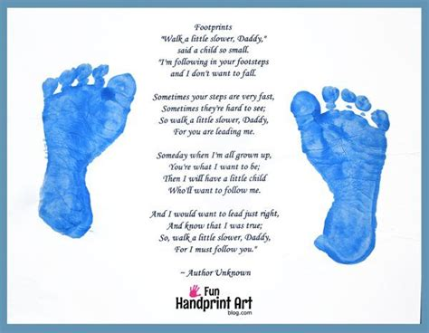 fathers footsteps fathers day poems handmade fathers
