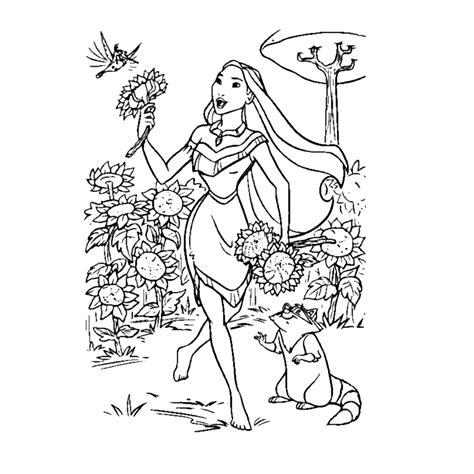 Disney Princess Kleurplaat by Leuk Voor Pocahontas Kleurplaten