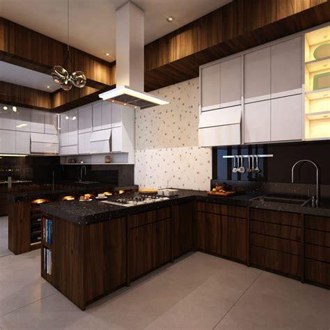 trend model desain dapur minimalis manis  menawan