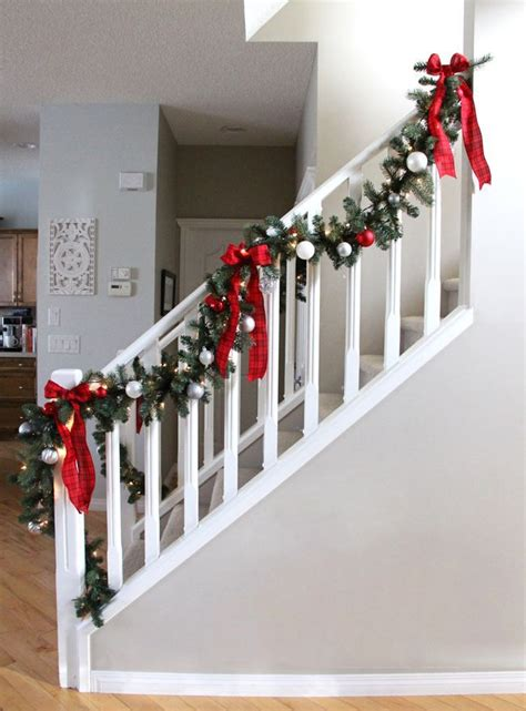 garland for stairs christmas 17 best ideas about staircase on staircase decor