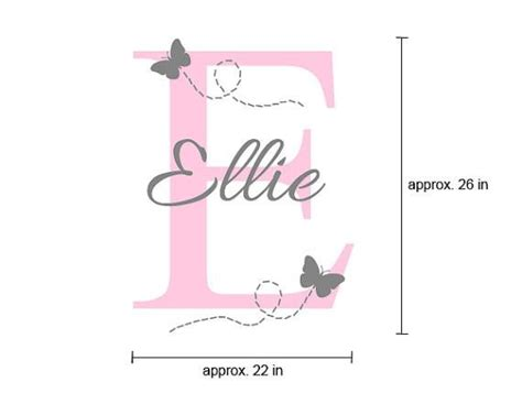 custom  wall decal ellie  flying butterflies surface inspired home decor wall decals