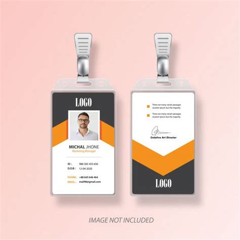 identification  id card vector design  images