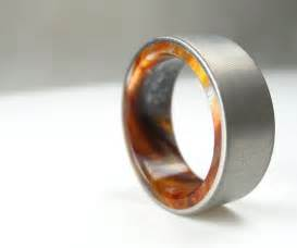 custom made wedding rings buy a handmade titanium wood tone burl mens wedding band iced bronze made to order from spexton