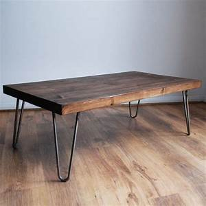 Metal And Woods : rustic vintage industrial solid wood coffee table bare ~ Melissatoandfro.com Idées de Décoration
