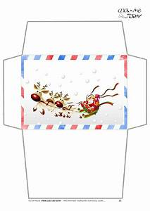 craft envelope letter to santa claus border santa sleigh 15 With christmas letter envelopes