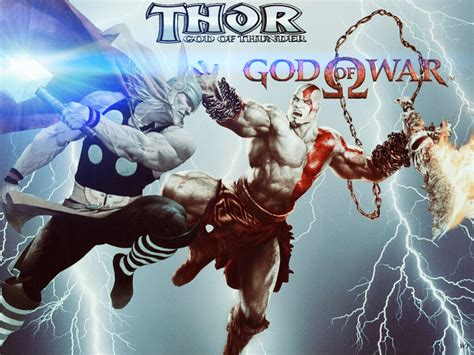 Thor Vs Kratos By Action111 On Deviantart
