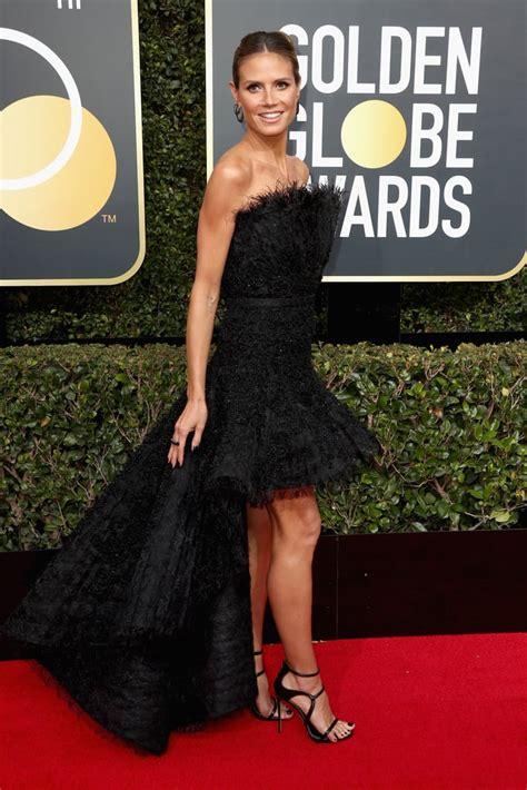 Heidi Klum Golden Globes Red Carpet Dresses