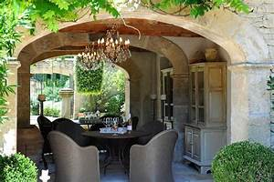 Outdoor Dining Pavilion  Complete With Chandelier  Petit
