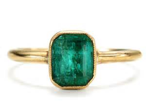 bezel engagement ring antique emerald ring the three graces