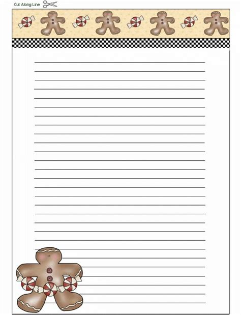 Gingerbread Man Writing Paper Computer Science Dissertations Free