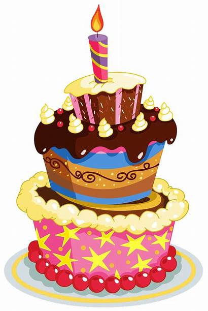 Cake Birthday Transparent Happy Clipart Clip Party