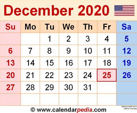 december calendars word excel