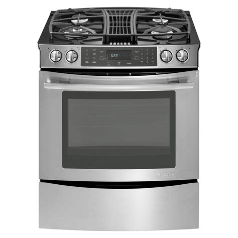 jenn air 4 3 cu ft slide in gas downdraft range w convection stainless shop your way