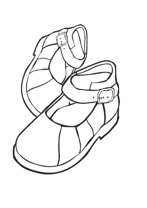Coloring Shoes by Shoes For Coloring Page Coloring Sky