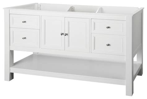 60 Inch Vanity Cabinet Single Sink by Foremost Gazette 60 Inch Vanity Cabinet In White With