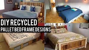 Diy, Recycled, Pallet, Bed, Frame, Designs